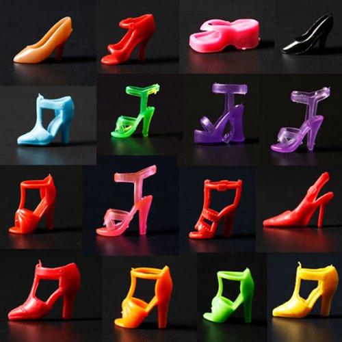 20 par różnokolorowych butów na wysokim obcasie dla lalki Barbie 290 mm akcesoria do zabawek marki GAOHOU