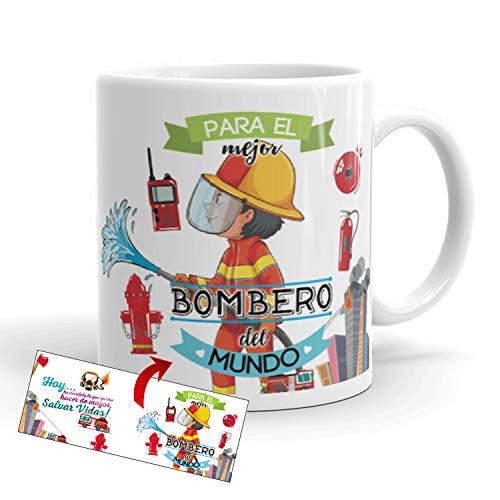 Kembilove Taza de Café para el Mejor Bombero del Mundo – Taza de Desayuno para la Oficina – Taza de Café y Té para Profesionales – Tazas de Profesiones para Bomberos