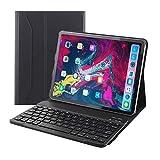 """【HAIKAU】 iPad Pro 11インチ用 bluetoothキーボード内蔵PUレザーケース 【USキーボード】 ワイヤレスキーボード 脱着式 スタンド機能付き オートスリープ機能搭載 超軽量 アイパッドプロ Smart Keyboard CASE for iPad Pro 11"""" 日本語操作説明書付き ブラック"""