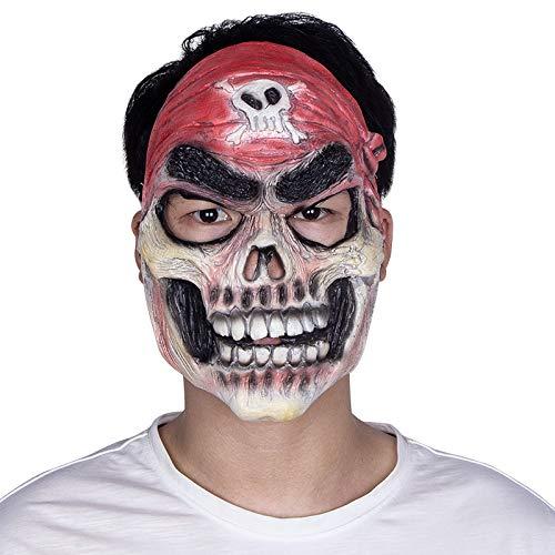 JNKDSGF Horror maskerHalloween Enge Piraat Masker voor Masquerade Party Kostuum Cosplay Latex Masker