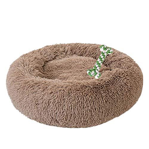 Fenverk Deluxe-Haustierbett für Katzen und kleine bis mittelgroße Hunde. Kuschelig mit weichem Kissen. Rund oder oval Nisthöhle/Bett für Haustiere (Katzen und kleine Hunde) in Doughnut-Form.