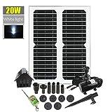 20W Solar Bomba De Fuente, LED Del Panel Solar De...