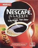Nescafé Classic Descafeinado Sobres, Estuche de 10 Sobres de 2 gr