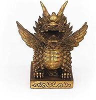 風水真鍮カイリンキリン像、富の幸運の像、家の装飾用の幸運の置物家の装飾ゴールデン51インチ