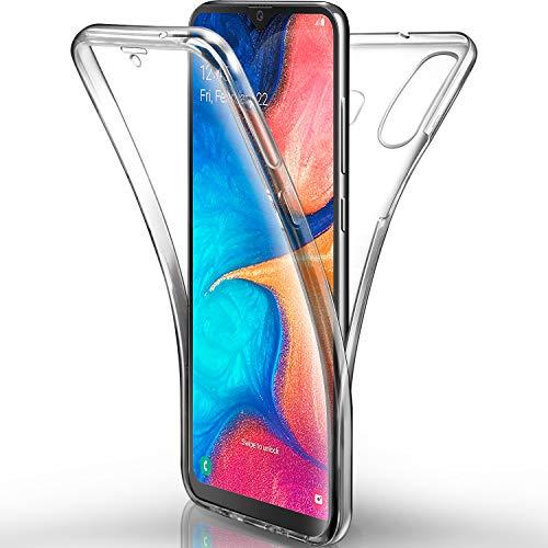 AROYI Funda Samsung Galaxy A20e Transparente,Silicona Doble Cara Carcasa 360°Full Body Protección,Anti-Arañazos Suave Case para Samsung A20e