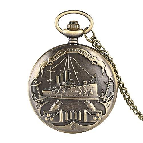 ZHJBD Relógio de bolso clássico de quartzo para homens e mulheres, relógio de bolso para adolescentes