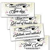 15 Gold Design IOU Love Coupons for Husband Wife Boyfriend Girlfriend...
