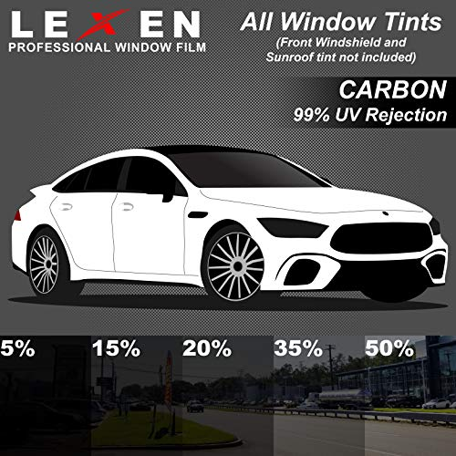 LEXEN 2Ply Carbon All Windows PreCut Tint Kit - Great Heat Reduction
