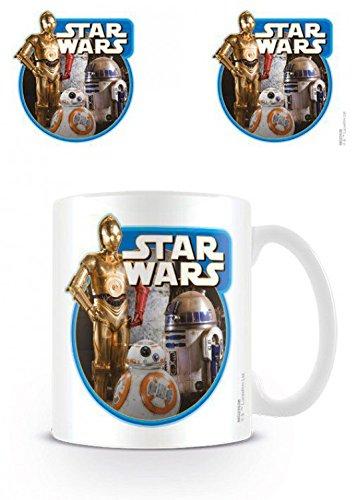 1art1 Star Wars, C-3PO, R2-D2 Und BB-8 Droiden, Das Erwachen Der Macht Episode VII Foto-Tasse Kaffeetasse (9x8 cm) Inklusive 1x Überraschungs-Sticker