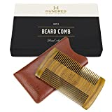 Dual Action Beard Comb & Protective Sleeve - Perfect for Balms and...