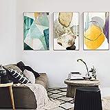 N / A Pintura sin Marco Abstracto Colorido Lienzo de Piedra Cartel de la Moda Sala de Estar decoración del hogar nórdico Arte de la paredZGQ7027 50X75cmx3