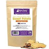 Raw Paws Natural Sweet Potato Dog Treats, 24-oz Chips - Made in USA - Grain & Gluten-Free, Human Grade, No Preservatives, Vegan, Vegetarian Dog Treats - Healthy, Dried, Chewy Dog Sweet Potato Chews