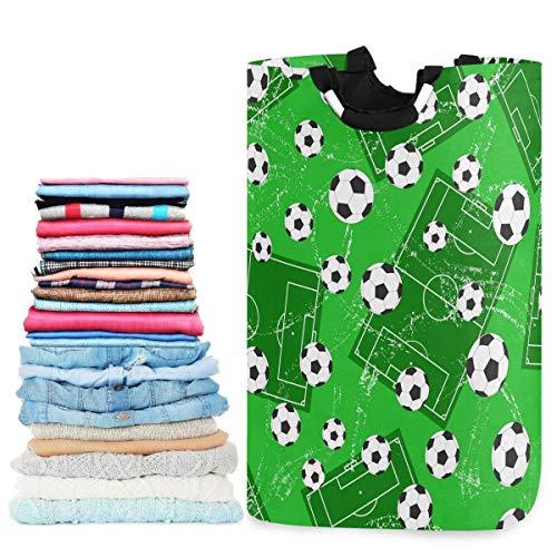 N\A Football Gate and Soccer Large Capacity Laundry Hamper Basket Water-Resistant Oxford Cloth Storage Baskets for Bedroom, Bathroom, Dorm, Kids Room