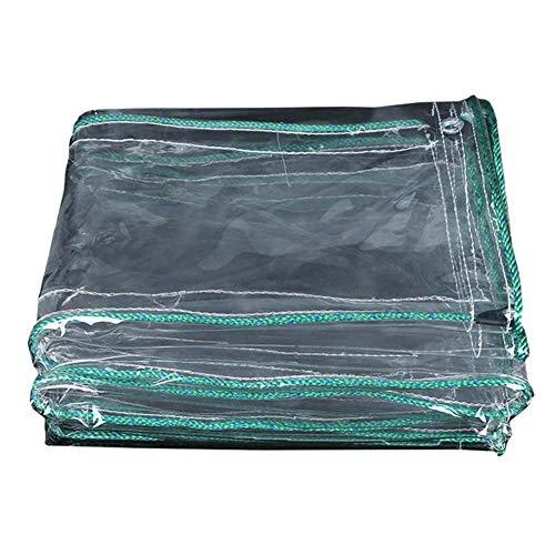 Transparante Heavy Duty Tarpaulins Externe PVC Waterdichte zeilen voor Kas Tuin met Kabel Klieren en Rand Versterkte 500 g/m2 (Afmetingen: 3 × 3 m) 1×4m