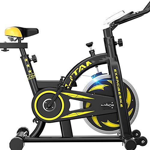 FGONG Vélo de Fitness d'intérieur Vélo de vélo d'exercice Vélo d'exercice Professionnel réglable avec écran LCD Équipement d'entraînement d'entraînement Coussin de siège Confortable,Noir