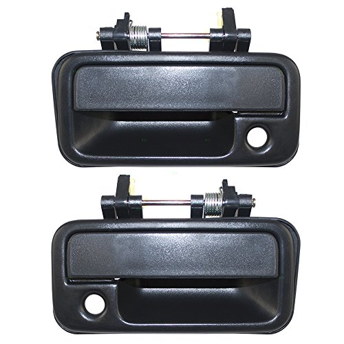 Pair Set Outside Exterior Front Black Door Handles Replacement for Isuzu Amigo & Pickup Truck 8944349741 8944349731 AutoAndArt