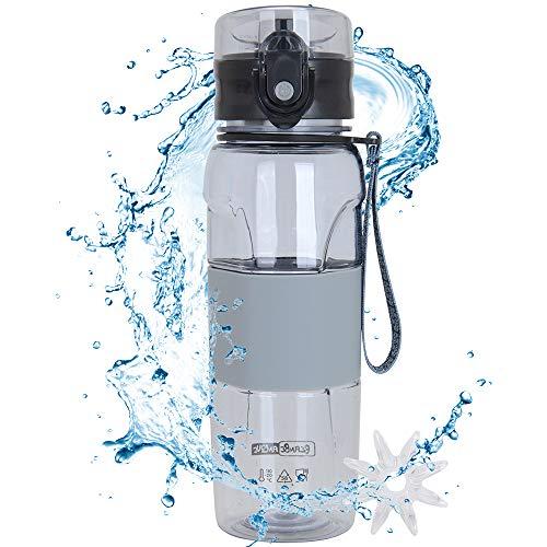 MaYee Botella de Agua Deportiva Sin BPA | Botella Agua Deporte 500ml | Cantimplora Agua para Gimnasio, Oficina, Aire Libre, Yoga, Camping, Bicicleta