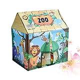 Toyvian Prinzessin Schloss Spielen Zelt Dschungel Tier Muster Faltbare Kinder Spielhaus Baby...