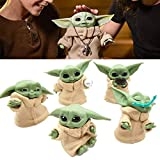 HHZZ Baby Yoda Doll Figure, Yoda Baby Star Wars The Bounty Collection Series,2.2-in Small Yo-da Figure from The Mandalorian (5Pcs/Set)