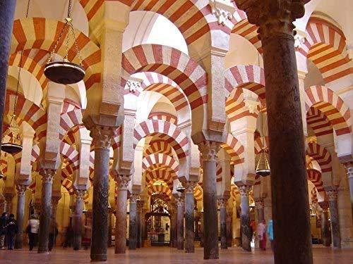 Mezquita de Córdoba, España   Rompecabezas grande de 500 piezas para adultos, niños, regalo de bricolaje, rompecabezas de madera