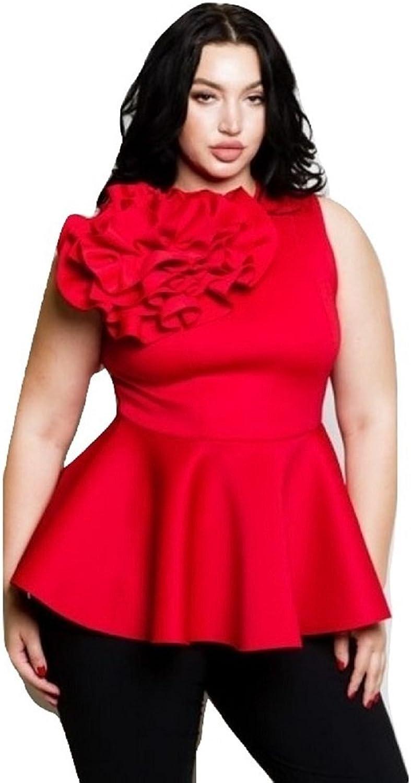 L'Diva Couture Boutique Women's Flower Plus Size, Plus Size Flower Blouse