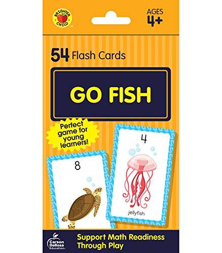 Carson Dellosa   Go Fish Card Game   Ages 4+, 54ct (Brighter Child Flash Cards)