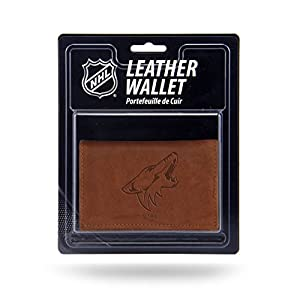 NHL Rico Industries Leather Trifold Wallet with Man Made Interior, Arizona Coyotes