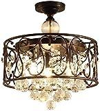 N/Z Equipo para el hogar 15 candelabros Grandes Retro industriales con 3 lámparas, suspensión de Cristal para Dormitorio, Colgante de Metal para Restaurante, decoración de Bar, fácil de Alta