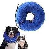 XG-BH Aufblasbares Halsband für Hunde und Katzen Aufblasbares Schutzkegel Soft Pet Recovery E-Collar,S