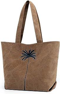 LIMING Ladies Vintage Canvas Bag Lightweight Shoulder Bag Wear-Resistant Commuter Package (Color : Blue, Size : 37 * 17 * ...