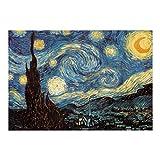 STOBOK Van Gogh - Puzzle de 1000 piezas, diseño de cielo estrellado Vincent Van Gogh Starry Night Jigsaw de cuadros mundialmente famosos para manualidades de papel para adultos y niños, 50 x 75 cm