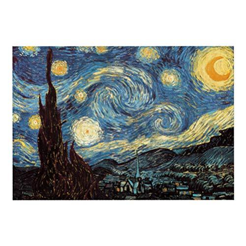 STOBOK Van Gogh, puzzle a forma di cielo stellato, Vincent Van Gogh, Starry Night Jigsaw, 1000 pezzi, per adulti e bambini, 50 x 75 cm