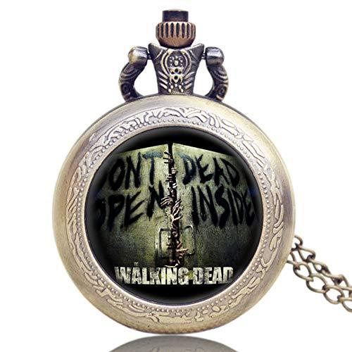 """Herren-Taschenuhr, Walking Dead Rick, Gravur """"Don't Open Dead Inside"""", tolles Geschenk für Männer, Fans von The Walking Dead."""