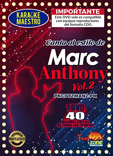 Best Review Of Karaoke Marc Anthony Vol. 2 DVD 40 Best Songs Ever