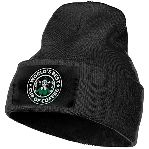 Unisex's World's Best Cup of Coffee Warm Knit Caps Perfect for Running Hat Knitting Beanie Cap