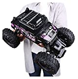 01:14 Escala 2.4 GHz a distancia Camión de control para niños adultos regalo eléctrico Bigfoot Monstro Crawler Buggy High Speed Climbing eléctrico Crawler Buggy todoterreno (color: 1 batería)