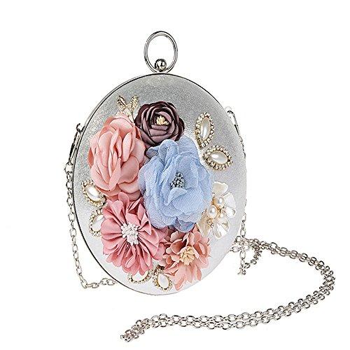 JIAN YA NA moda sferica da sera borsa da sposa frizione borsa fiore frizione borse per la festa di nozze banchetto di promenade