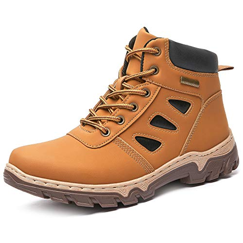 FRACORA Women's Waterproof Hiking Boots Mid Outdoor Non Slip Lightweight Lace up Ankle Boot Backpacking Trekking Mountaineering Trail Shoes(Brown.US8)