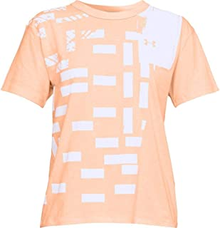 Under Armour Graphic Patchwork Girlfriend Crew Training Top For Women, Size Large Multi Color