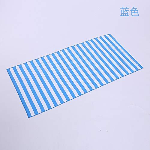 MKHB Zwemmende sjaal gestreepte strandhanddoek microvezel strandstoel handdoek strandbad handdoek 160 * 80cm hemelsblauw