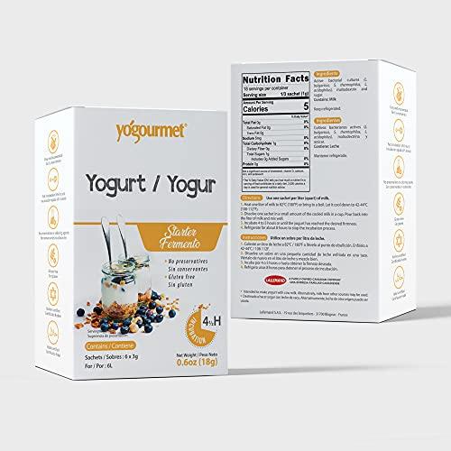 Yogourmet Freeze Dried Yogurt Starter, 1 ounce box (Pack of 3) (Packaging May Vary)
