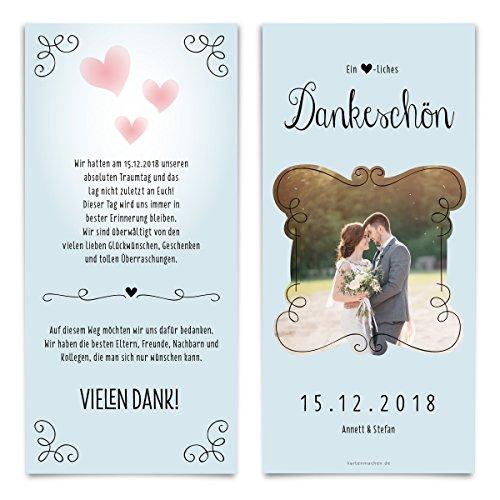 30 x Hochzeit Dankeskarten Danksagung Danksagungskarten Danke Hochzeitsdanksagung - Küssendes Paar