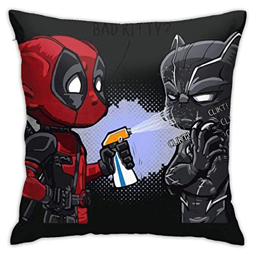 Black Panther Vs. Deadpool Camisa, Bad Kitty - Fundas de almohada transpirables de 45,7 x 45,7 cm
