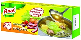 Knorr Pork Bouillon Cubes for Broth Soup Thai Food Recipe Pack 12 Cubes 120g