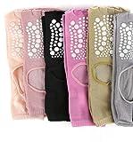 JKCTOPHOME Calcetines Antideslizantes para Mujeres,Calcetines de Tubo de algodón de rocío y Yoga Expuestos-Color de Mezcla 10PCS_10PCS,Ideales para Yoga