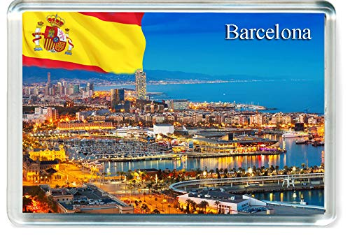 H232 Barcelona Imán para Nevera Spain Travel Fridge Magnet