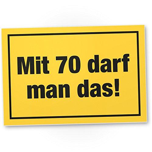 Bedankt! met 70 jaar mag Man Das, plastic bord - Geschenk 70e verjaardag, cadeau-idee verjaardagscadeau zeventig, verjaardagsdeco/partydecoratie/feestaccessoires/verjaardagskaart