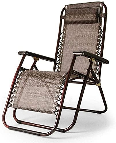 Tumbona para patio, tumbona de gravedad cero, reclinable, ajustable, plegable, jardín, terraza, tumbona, silla de playa, silla de playa, oficina, almuerzo, silla de siesta, silla de siesta, L