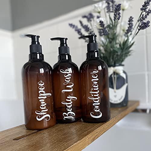 Champú, acondicionador y lavado corporal – Mrs Hinch inspirado en las pegatinas de botella (T3)