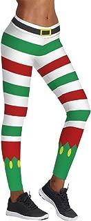 Womens Digital Print Ugly Christmas Sweater Leggings Footless